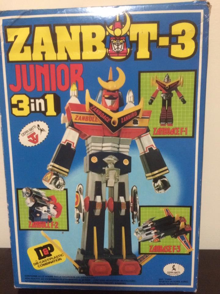 Robot-ZAMBOT-3-Junior-3-in-1-Ceppiratti-Die-Cast-1980-Zamboace-Zambull-Zambase   14449710