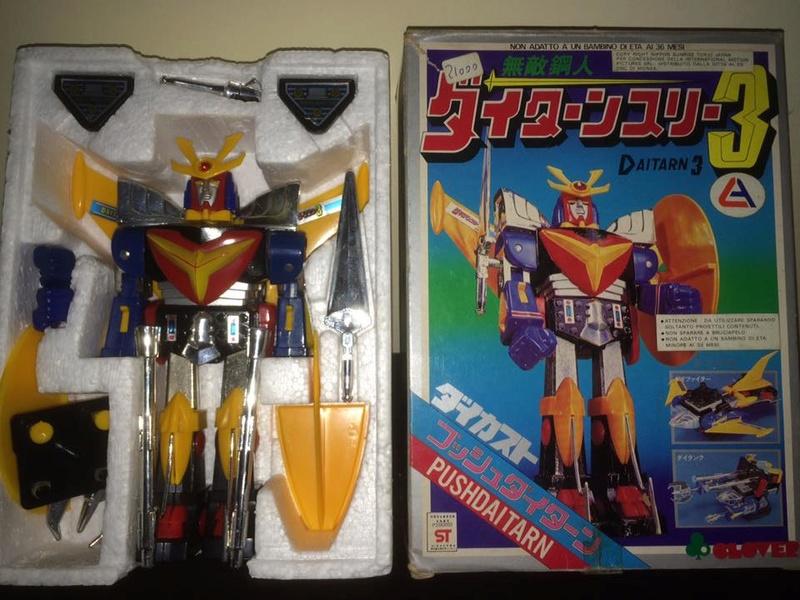 Daitarn 3 Daitan tre Clover Tre trasformazioni Anni 70 /80 Toys Vintage 14462713