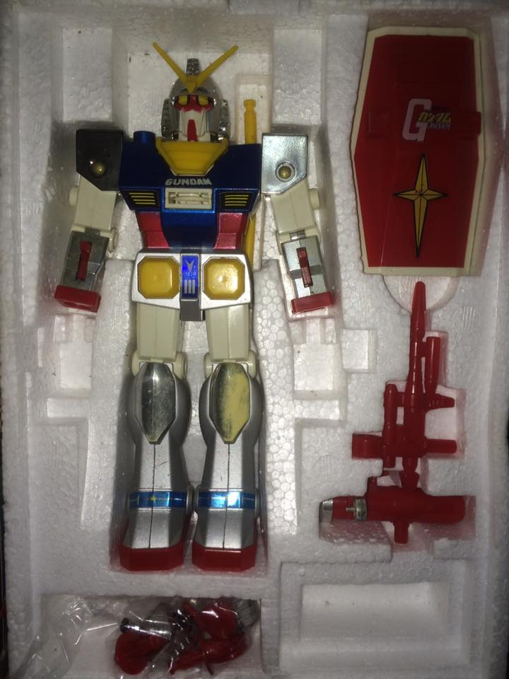 Robot-Gundam-RX-78-DX-Clover-con 70 80 Vintage Spara Dischi al Petto 14462910