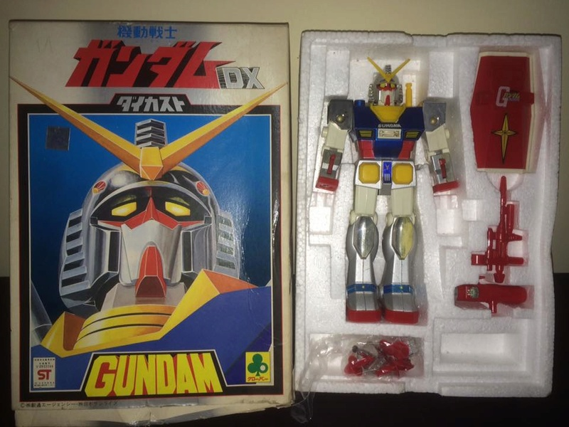 Robot-Gundam-RX-78-DX-Clover-con 70 80 Vintage Spara Dischi al Petto 14463010