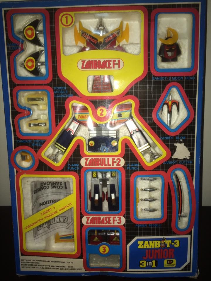Robot-ZAMBOT-3-Junior-3-in-1-Ceppiratti-Die-Cast-1980-Zamboace-Zambull-Zambase   14463111