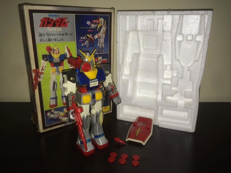 Robot-Gundam-RX-78-DX-Clover-con 70 80 Vintage Spara Dischi al Petto 14470310