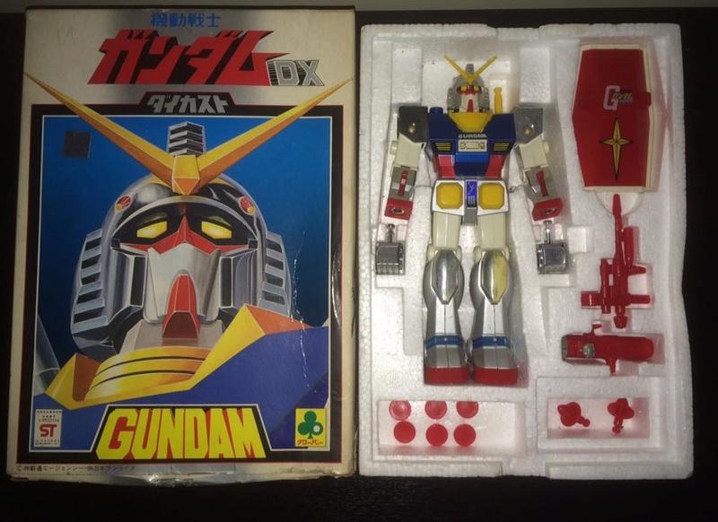 Robot-Gundam-RX-78-DX-Clover-con 70 80 Vintage Spara Dischi al Petto 14470510