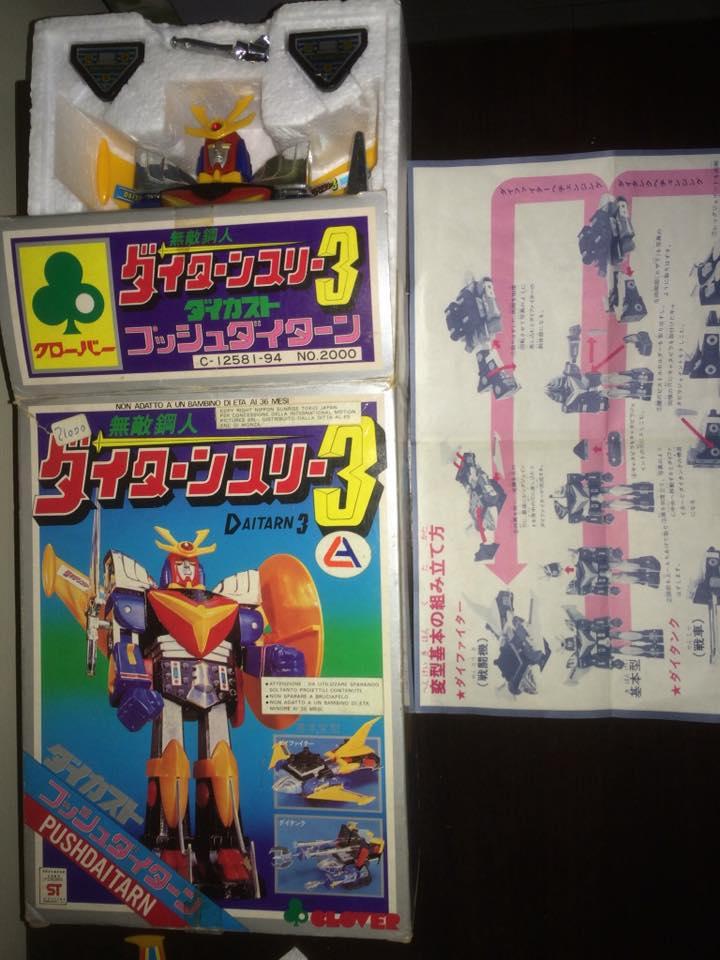 Daitarn 3 Daitan tre Clover Tre trasformazioni Anni 70 /80 Toys Vintage 14479610