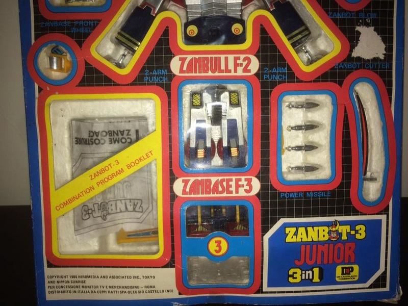 Robot-ZAMBOT-3-Junior-3-in-1-Ceppiratti-Die-Cast-1980-Zamboace-Zambull-Zambase   14479611