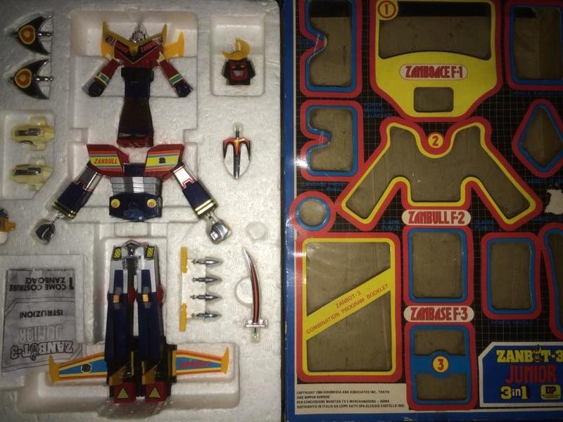Robot-ZAMBOT-3-Junior-3-in-1-Ceppiratti-Die-Cast-1980-Zamboace-Zambull-Zambase   14484611