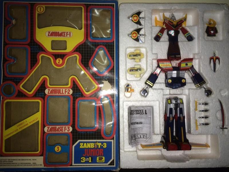 Robot-ZAMBOT-3-Junior-3-in-1-Ceppiratti-Die-Cast-1980-Zamboace-Zambull-Zambase   14485010