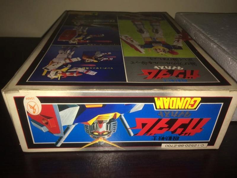 Robot-Gundam-RX-78-DX-Clover-con 70 80 Vintage Spara Dischi al Petto 14492410