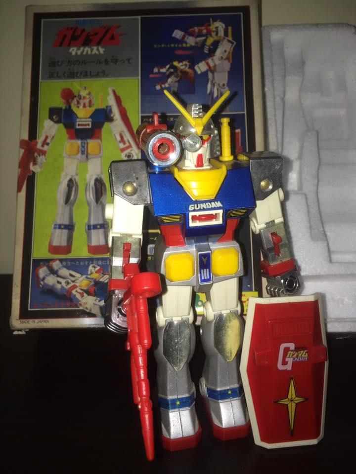 Robot-Gundam-RX-78-DX-Clover-con 70 80 Vintage Spara Dischi al Petto 14492511
