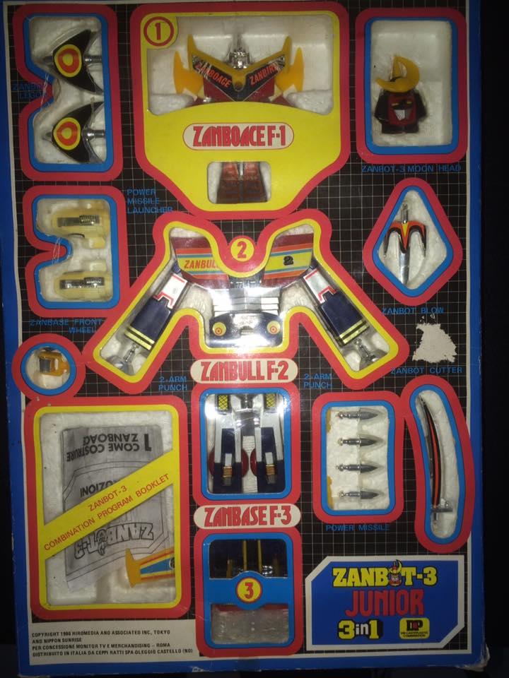 Robot-ZAMBOT-3-Junior-3-in-1-Ceppiratti-Die-Cast-1980-Zamboace-Zambull-Zambase   14494611