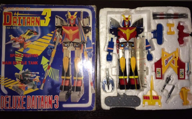 Daitarn 3 Clover DX Sunrise Deluxe set Daitan TRE Toys Anni 70 80 Vintage 14495310