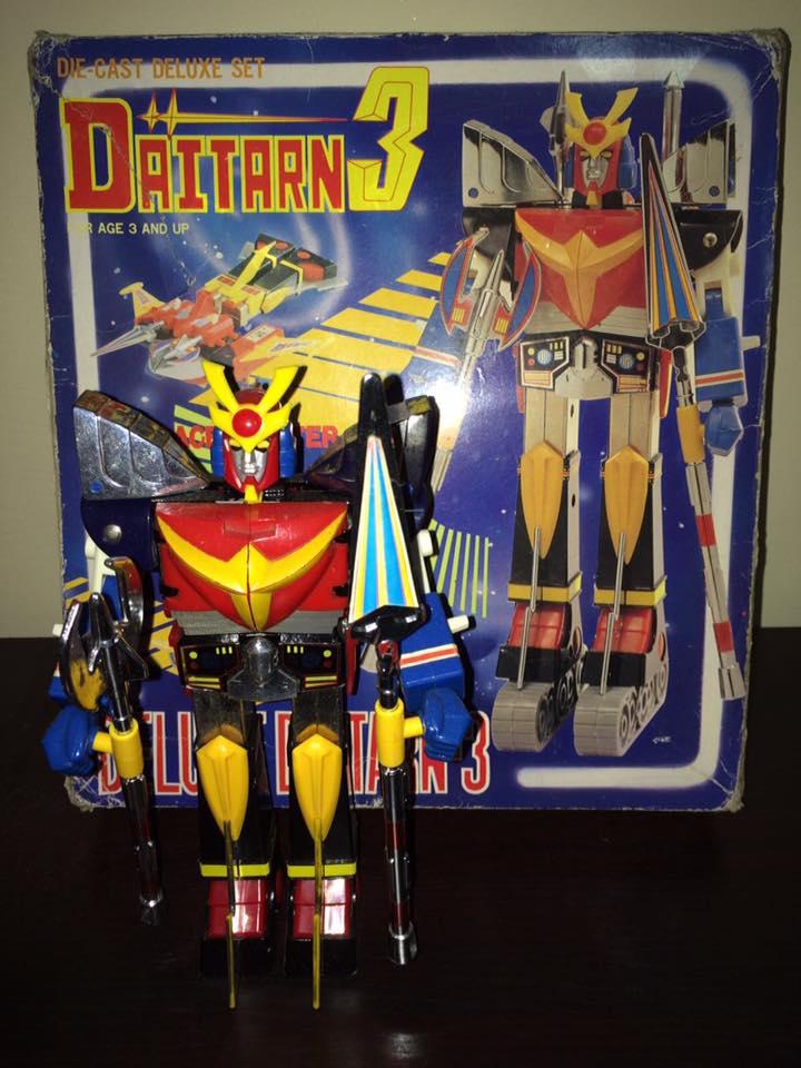 Daitarn 3 Clover DX Sunrise Deluxe set Daitan TRE Toys Anni 70 80 Vintage 14495410