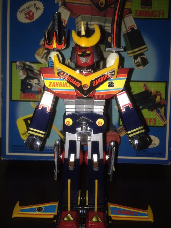 Robot-ZAMBOT-3-Junior-3-in-1-Ceppiratti-Die-Cast-1980-Zamboace-Zambull-Zambase   14519610
