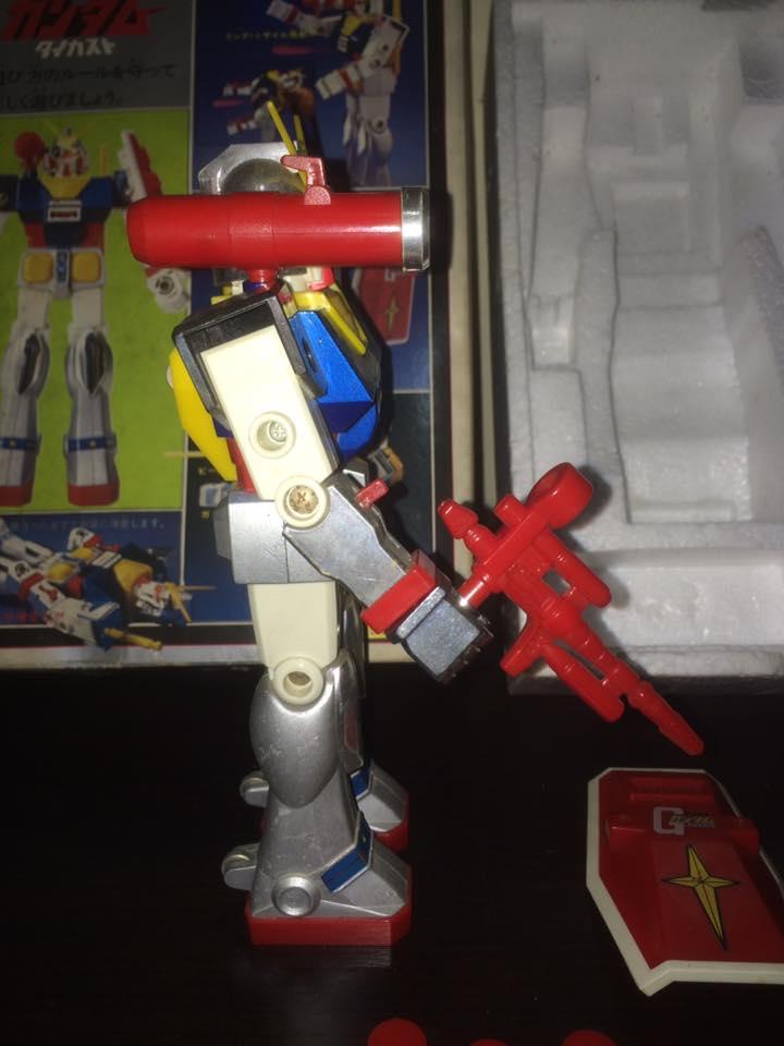 Robot-Gundam-RX-78-DX-Clover-con 70 80 Vintage Spara Dischi al Petto 14520610
