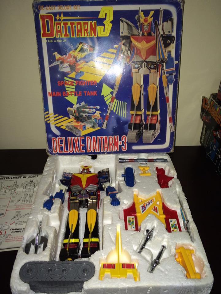 Daitarn 3 Clover DX Sunrise Deluxe set Daitan TRE Toys Anni 70 80 Vintage 14522710