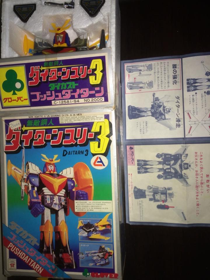 Daitarn 3 Daitan tre Clover Tre trasformazioni Anni 70 /80 Toys Vintage 14522911