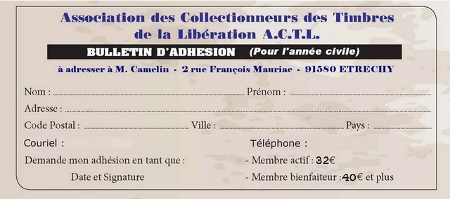 Bulletin d'adhésion  Bullet10