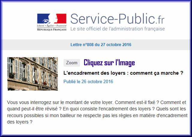 """La lettre N° 808 de """"Service Public"""" pour le 28 Octobre 2016 80810"""