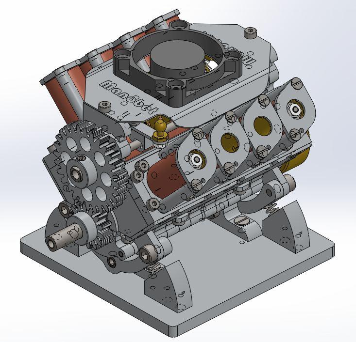 Moteur à solénoïdes V8_yle37