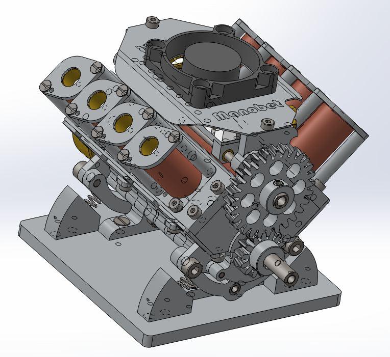 Moteur à solénoïdes V8_yle38