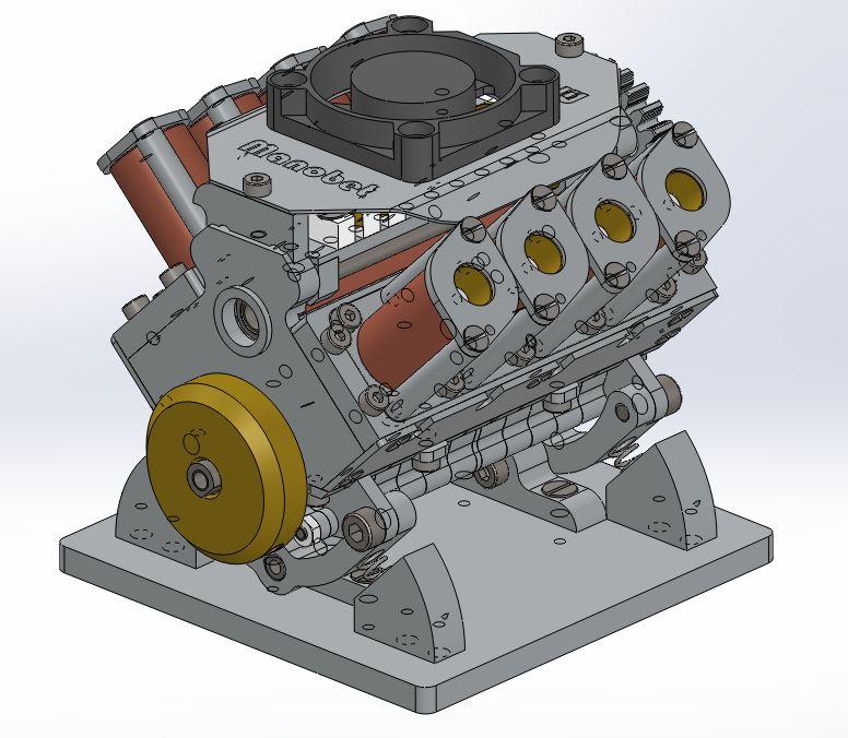 Moteur à solénoïdes V8_yle39