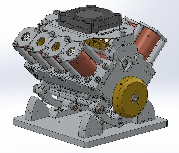 Moteur à solénoïdes V8_yle40