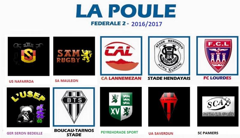 Adversaires de notre poule 6 - saison 2016/17 - Fédérale 2. Poule_10