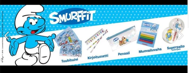 [HERSBURGER] cadeau schtroumpfs les menus enfants ( finlande) Finlan10