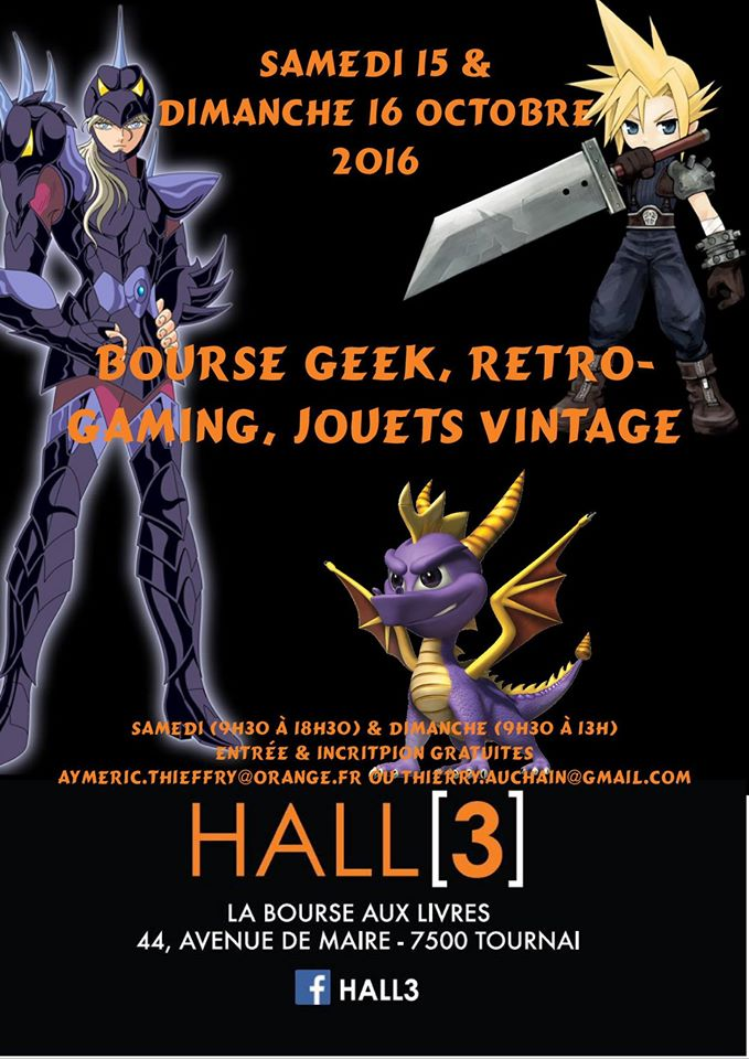 Bourse geek/retro-gaming/vintage toys à Tournai (Belgique) les 15 et 16 octobre 2016 Affich11