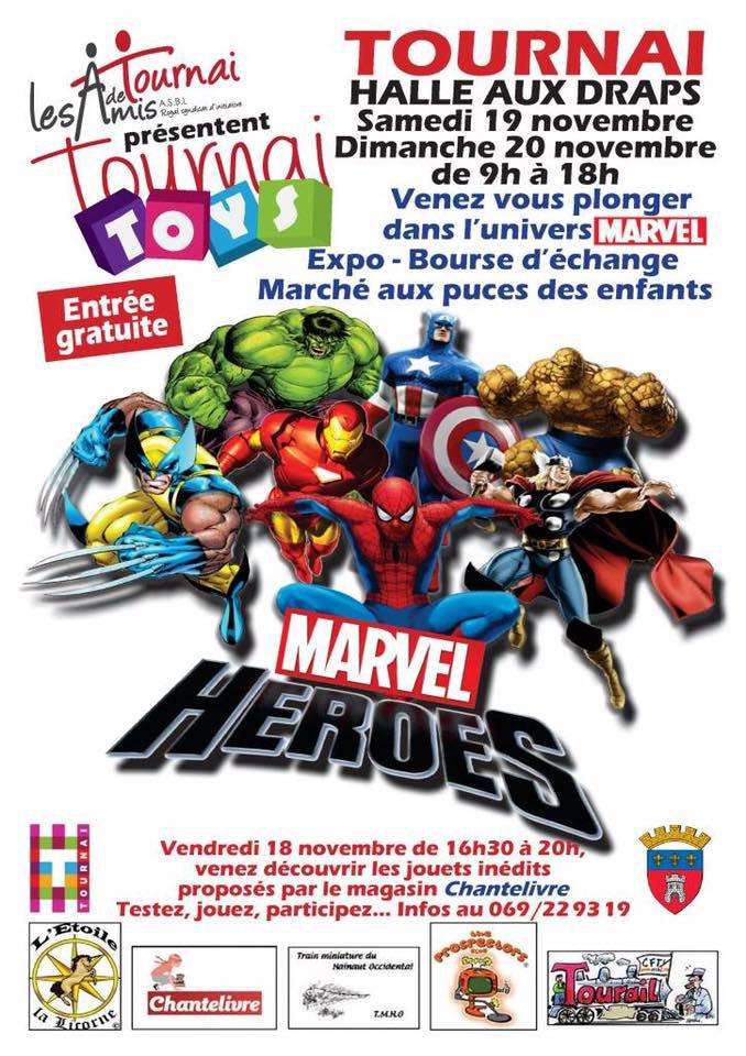 Salon Tournai Toys 2016 à Tournai (Belgique), week end des 19 et 20 novembre 2016 Tourna10
