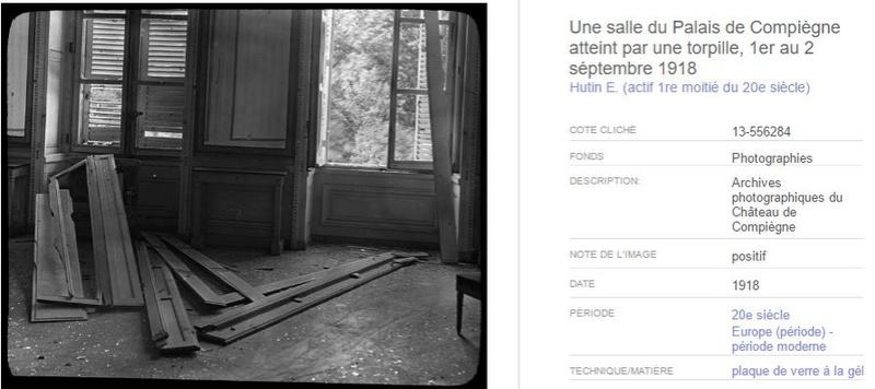 """Exposition """"Le palais de Compiègne dans la Grande Guerre""""  018"""