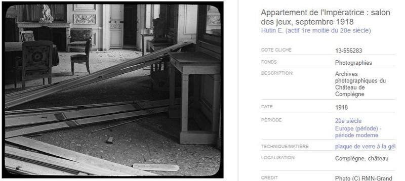 """Exposition """"Le palais de Compiègne dans la Grande Guerre""""  20510"""