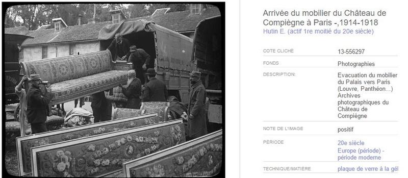 """Exposition """"Le palais de Compiègne dans la Grande Guerre""""  7410"""