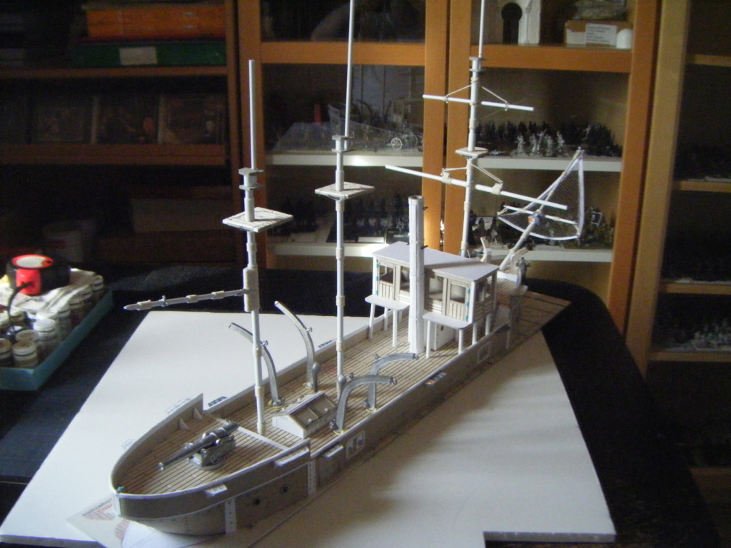 [Marine Coloniale] Grosse canonnière  1850-1920 28mm  Ar110