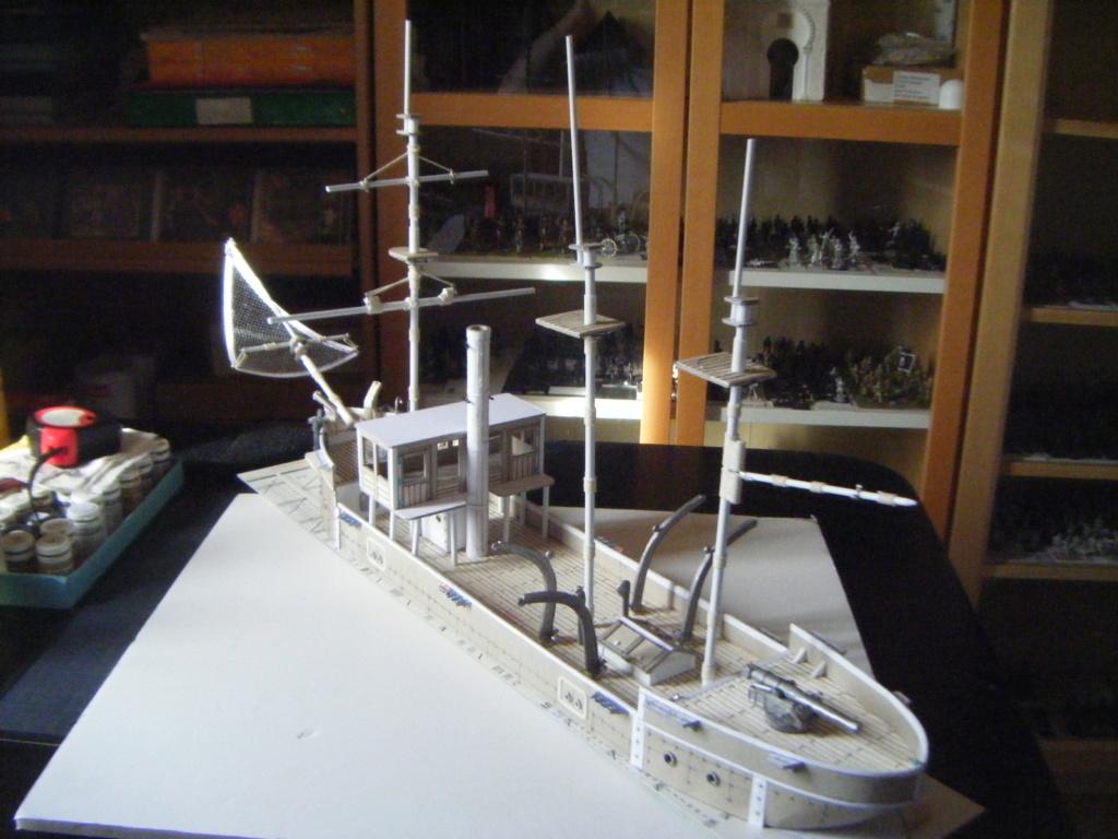 [Marine Coloniale] Grosse canonnière  1850-1920 28mm  Ar210