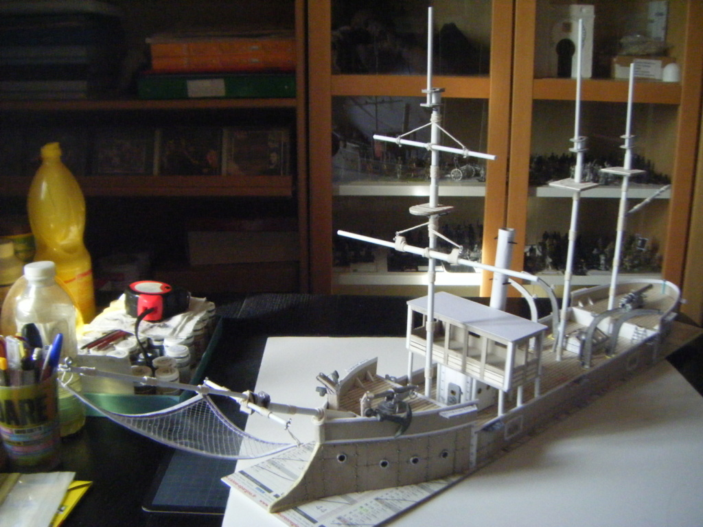 [Marine Coloniale] Grosse canonnière  1850-1920 28mm  Av210