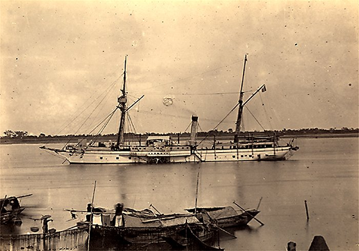[Marine Coloniale] Grosse canonnière  1850-1920 28mm  Gunboa10