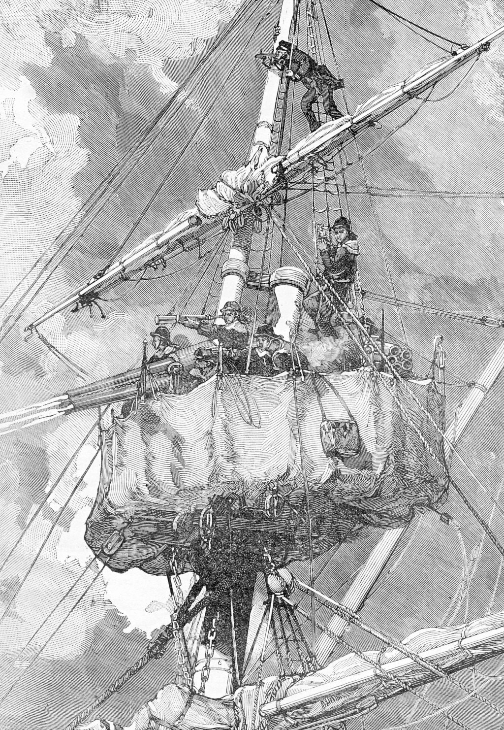 [Marine Coloniale] Grosse canonnière  1850-1920 28mm  Pluvie10
