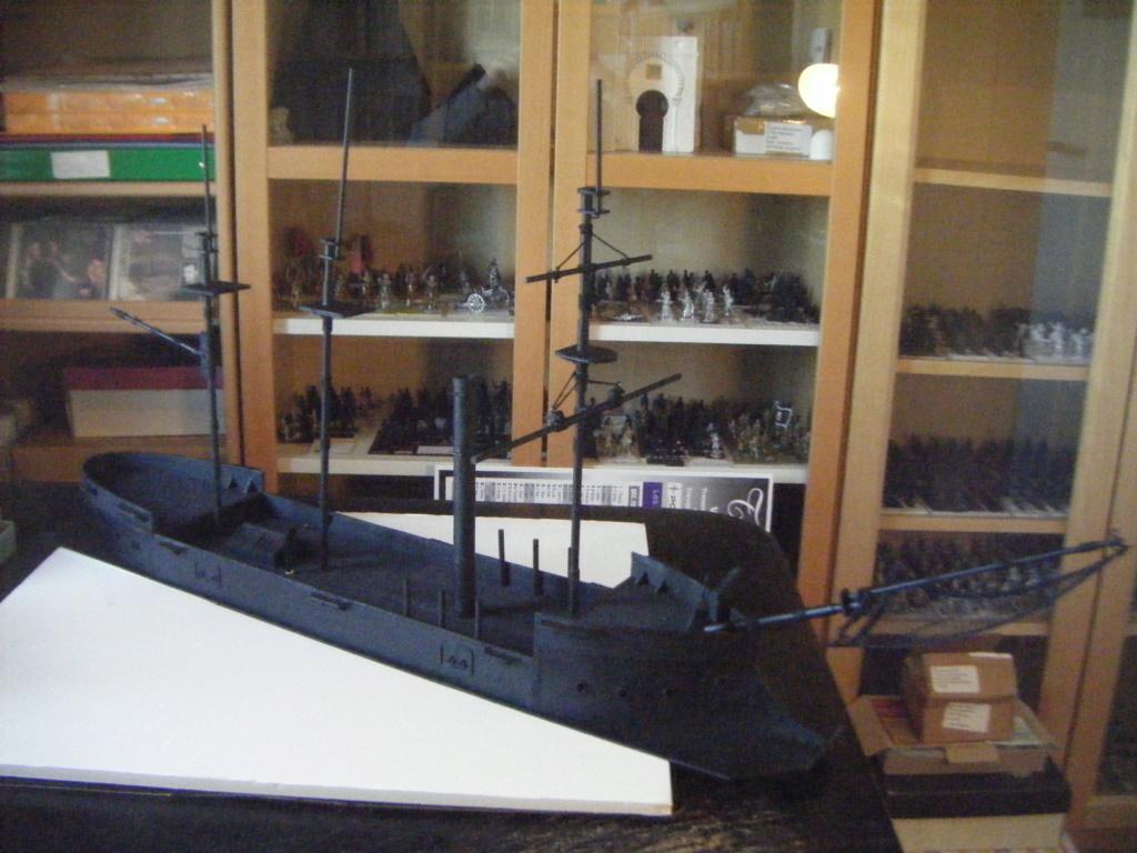 [Marine Coloniale] Grosse canonnière  1850-1920 28mm  Sc110
