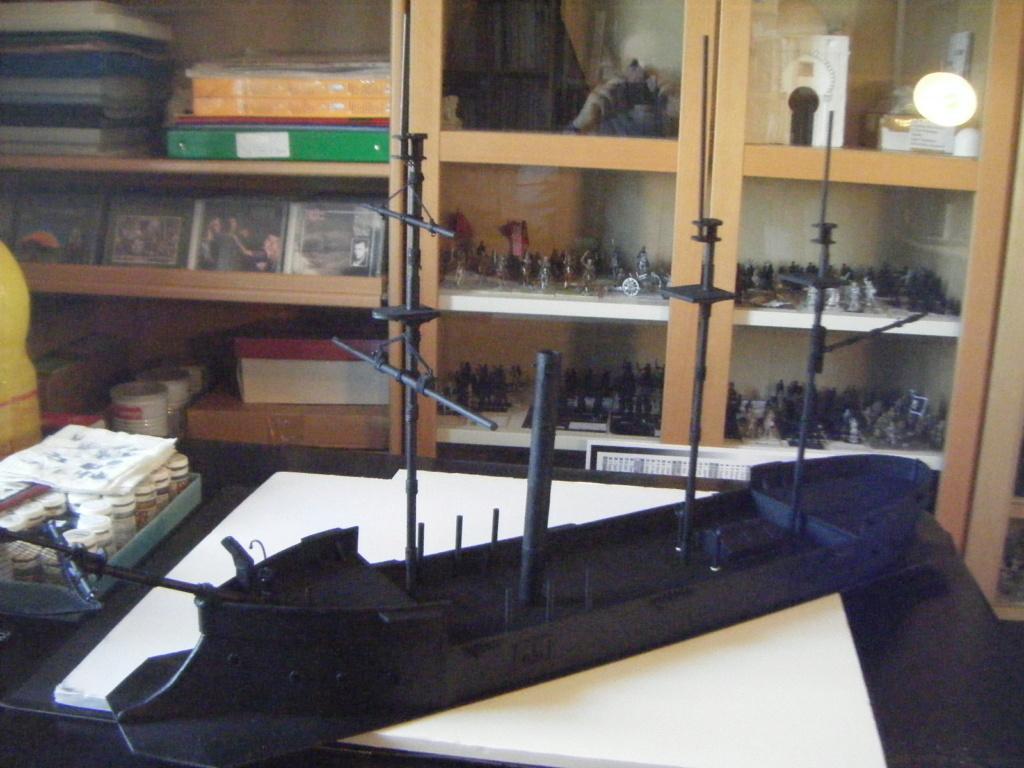 [Marine Coloniale] Grosse canonnière  1850-1920 28mm  Sc310