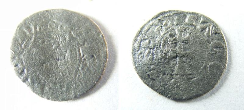 """Denier ou Obole d'Aragon pour Jacques 1er """"le conquérant"""" (ou Jacques II) Zx10"""