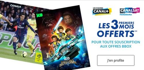 Canal+ et CanalSat offerts pendant 3 mois chez  Bouygues Telecom  Canal10