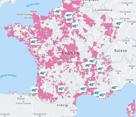 Bouygues Telecom couvre en 4G 77% de la population  Carte410