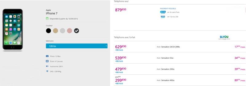 L'iPhone 7 à partir de 199,90€ en renouvellement chez Bouygues Telecom Iph71210