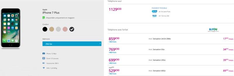 L'iPhone 7 à partir de 199,90€ en renouvellement chez Bouygues Telecom Iph7pl12