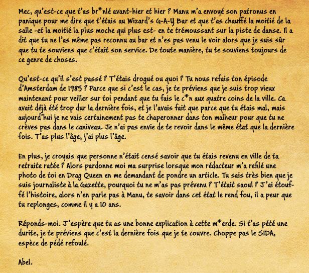[19 Septembre 1997] - Du pessimisme, de l'optimisme, du réalisme et de l'opportunité de s'en défaire. Lettre11