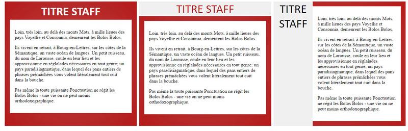 [HTLM - CSS)] - Messages staff Fiche_10