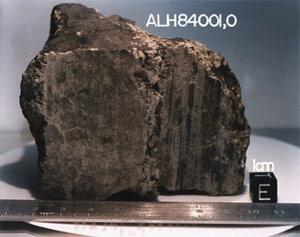 météorite ALH84001 preuve de vie sur Mars Alh84010