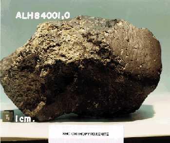 météorite ALH84001 preuve de vie sur Mars Alh84012