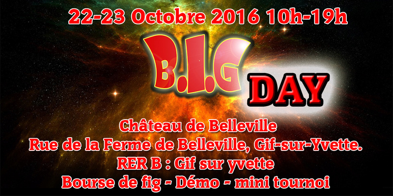 BIG DAY le 22-23 Octobre 2016 a Gif sur yvette (91) Entete10
